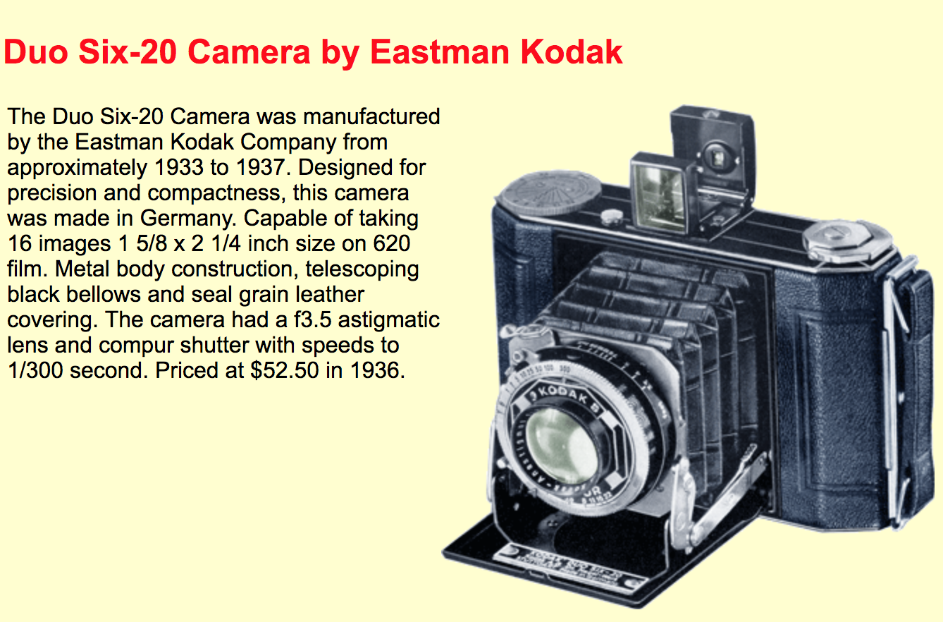 Kodak Duo Six Twenty